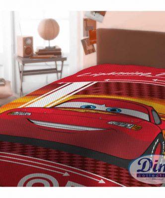 Αυθεντική Πικέ Κουβέρτα Μονή CARS 575 της DISNEY / DIMcol