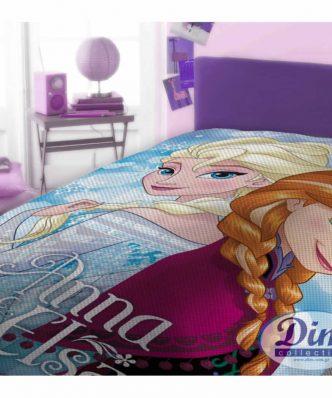 Αυθεντική Πικέ Κουβέρτα Μονή FROZEN 505 της DISNEY / DIMcol5205495395388
