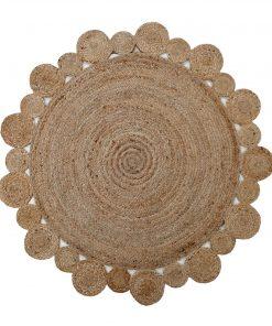 Στρογγυλό Jute DELHI BR-709 Χαλί της New Plan (Δ:150cm)