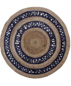 Στρογγυλό Jute DELHI BR-N014 Χαλί της New Plan (Δ:150cm)