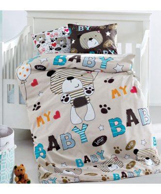 Σετ Βρεφικά (bebe) Σεντόνια Κούνιας MY BABY BEAR της Sb Home (110x150)