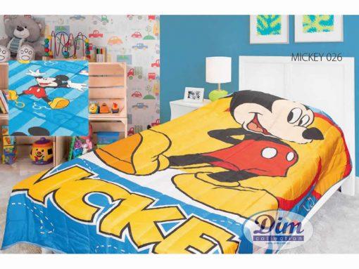 Αυθεντικό Παιδικό Κουβερλί Μονό MICKEY 026 της DISNEY / DIMcol
