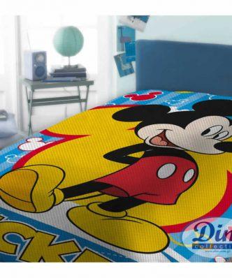 Αυθεντική Πικέ Κουβέρτα Μονή MICKEY 565 της DISNEY / DIMcol