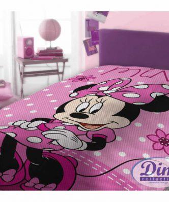 Αυθεντική Πικέ Κουβέρτα Μονή MINNIE 555 της DISNEY / DIMcol