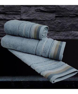 Σετ (2τμχ) Πετσέτες Προσώπου SESILIA BLUE της Sb Home (50x90)