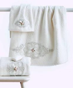 Σετ (3τμχ) Νυφικές Πετσέτες Μπάνιου EMILY της Sb Home