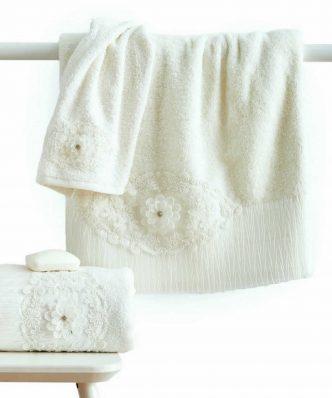 Σετ (3τμχ) Νυφικές Πετσέτες Μπάνιου NATALIE της Sb Home