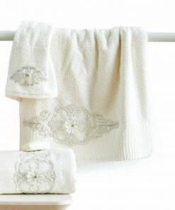 Σετ (3τμχ) Νυφικές Πετσέτες Μπάνιου VERONICA της Sb Home