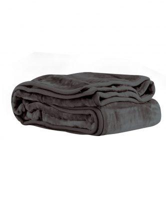 Βελουτέ κουβέρτα Υπέρδιπλη LOFT της NEF-NEF (240x220) 1110-D.GREY