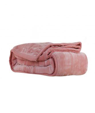 Βελουτέ κουβέρτα Υπέρδιπλη LOFT της NEF-NEF (240x220) 1141-PINK