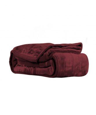 Βελουτέ κουβέρτα Υπέρδιπλη LOFT της NEF-NEF (240x220) 1142-BORDO