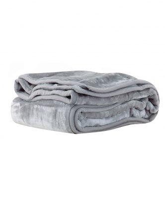 Βελουτέ κουβέρτα Υπέρδιπλη LOFT της NEF-NEF (240x220) GREY