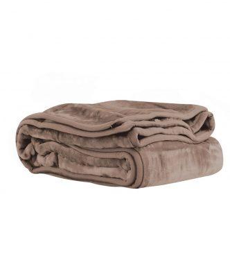 Βελουτέ κουβέρτα Υπέρδιπλη LOFT της NEF-NEF (240x220) 1140-MOCCA
