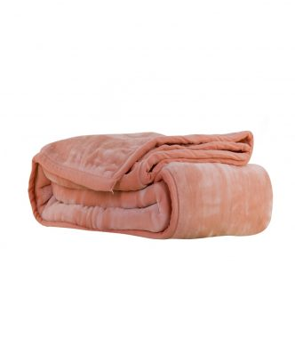 Βελουτέ κουβέρτα Μονή LOFT της NEF-NEF (160x220) 1108-CORAL