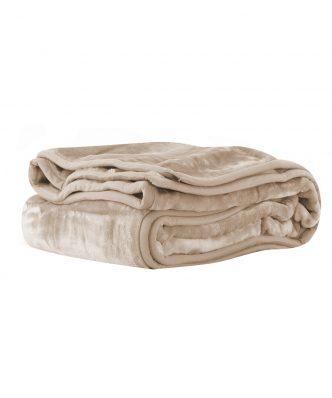 Βελουτέ κουβέρτα Μονή LOFT της NEF-NEF (160x220) 1107-LINEN
