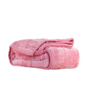 Βελουτέ κουβέρτα Μονή LOFT της NEF-NEF (160x220) PINK