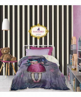 Παιδική Κουβέρτα Μονή Fleece με Γουνάκι SANTORO GORJUSS Looking for Sunshine 5030 της Das Home (160x220) - ΜΩΒ