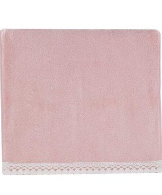 Σετ (2τμχ) Πετσέτα Χεριών & Προσώπου CROCHET της NEF-NEF - 1120-PINK
