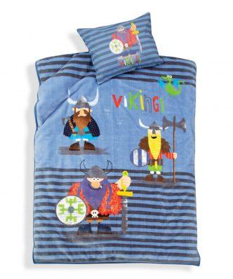 Παιδική Βελουτέ Κουβέρτα Μονή VIKINGS STYLE της NEF-NEF (160x220) BLUE