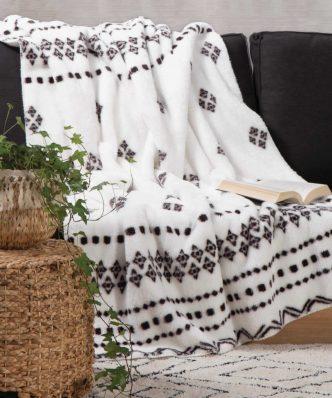 Fleece Κουβέρτα Καναπέ / Ριχτάρι RAGNAR της NEF-NEF (130x170) ECRU