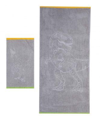 Σετ (2τμχ) Παιδικές Πετσέτες JURASSIC της NEF-NEF -GREY