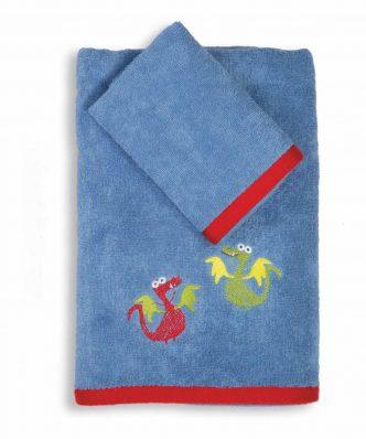 Σετ (2τμχ) Παιδικές Πετσέτες VIKINGS STYLE της NEF-NEF -BLUE