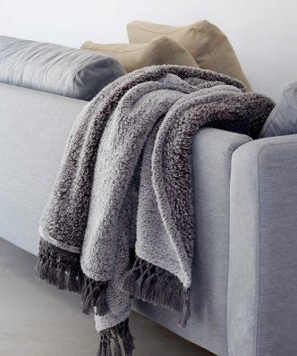 Κουβέρτα Καναπέ TWIGGY της MELINEN (130x170) GREY