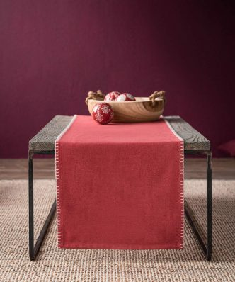 Runner EDELWEISS 114/02 της GOFIS HOME (35x150) SUNSET RED