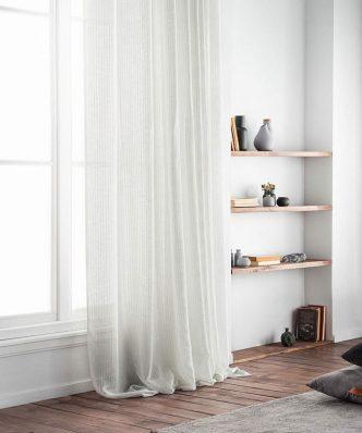 Κουρτίνα με Τρουκς IRENE 296/05 της GOFIS HOME (140x 280) OFF WHITE