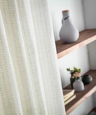 Κουρτίνα με Τρέσα IRENE 296B/05 της GOFIS HOME (140x 280) OFF WHITE