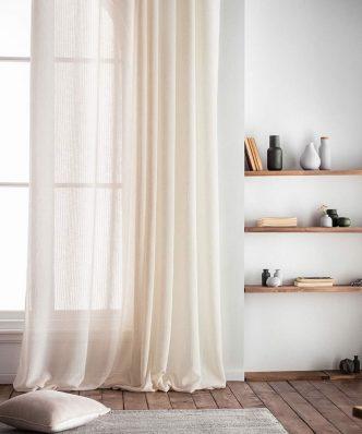 Κουρτίνα με Τρέσα IRENE 296B/06 της GOFIS HOME (140x 280) ΛΙΝΟ