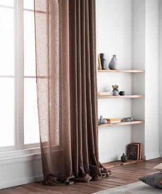 Κουρτίνα με Τρέσα COMBE 502B/13 της GOFIS HOME (140x 280) BROWN