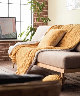 Κουβέρτα Καναπέ με γουνάκι SOFTY 478/10 της GOFIS HOME (130x170) ΩΧΡΑ