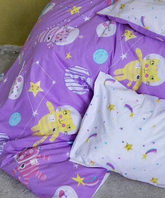 Παιδικό Πάπλωμα Μονό COSMIC KITTENS της NIMA HOME (160x240)