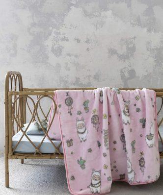 Βρεφική Κουβέρτα Βελουτέ Κούνιας HAPPY ALPACA της NIMA HOME (110x140)