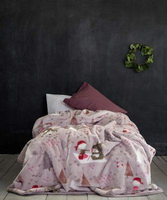 Παιδική Κουβέρτα Βελουτέ Μονή LITTLE RED RIDING HOOD της NIMA HOME (160x220)