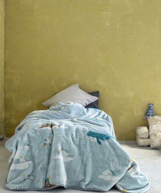 Παιδική Κουβέρτα Βελουτέ Μονή ARCTIC της NIMA HOME (160x220)