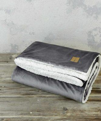 Κουβέρτα Καναπέ με Γουνάκι NUAN της NIMA HOME (130x170) DARK GRAY