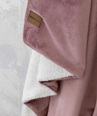 Κουβέρτα Καναπέ με Γουνάκι NUAN της NIMA HOME (130x170) TERRACOTTA