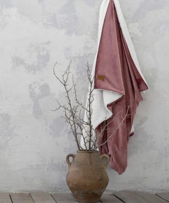 Κουβέρτα Καναπέ με Γουνάκι NUAN της NIMA HOME (130x170) FOREST GREEN
