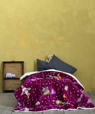 Παιδικό Κουβερτοπάπλωμα με Γουνάκι Μονό ABRACADABRA της NIMA HOME (150x220)