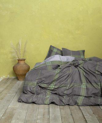 Σετ Σεντόνια Υπέρδιπλα APPAREL GREEN της NIMA HOME (240x260) (Με λάστιχο 160x200+32)