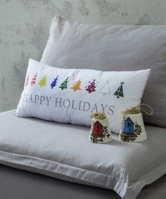 Χριστουγεννιάτικο Διακοσμητικό μαξιλάρι HAPPY HOLIDAYS της NIMA HOME (30x60)