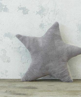 Χριστουγεννιάτικο Διακοσμητικό μαξιλάρι STAR της NIMA HOME (45x65) GRAY