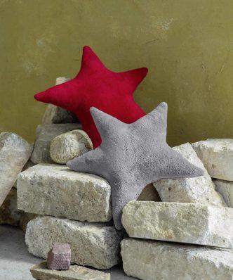 Χριστουγεννιάτικο Διακοσμητικό μαξιλάρι STAR της NIMA HOME (45x65) RED