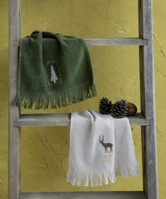 Σετ Χριστουγεννιάτικες Πετσέτες Χεριών (2τμχ.) DEAR SANTA της NIMA HOME