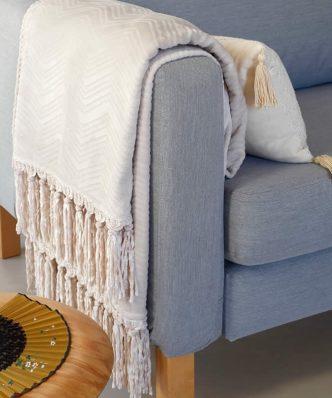 Κουβέρτα Καναπέ RAQUEL της MELINEN (130x170) ECRU
