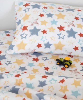 Βρεφική Μαξιλαροθήκη Baby Line STAR BOY της MELINEN (35x45)