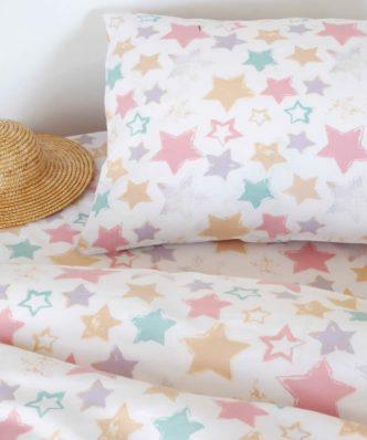 Βρεφική Μαξιλαροθήκη Baby Line STAR GIRL της MELINEN (35x45)