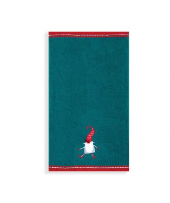 Χριστουγεννιάτικο Σετ (2τμχ) Πετσέτες CRAZY SANTA της NEF-NEF (30x50) GREEN